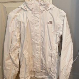 White NorthFace Raincoat